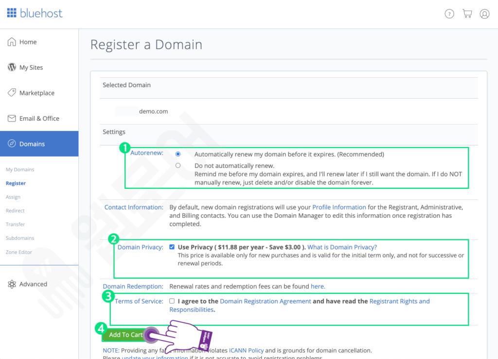 블루호스트에서 새 도메인 추가 및 사이트 만들기 STEP 6