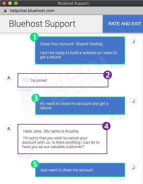 블루호스트 환불받는 방법 5단계