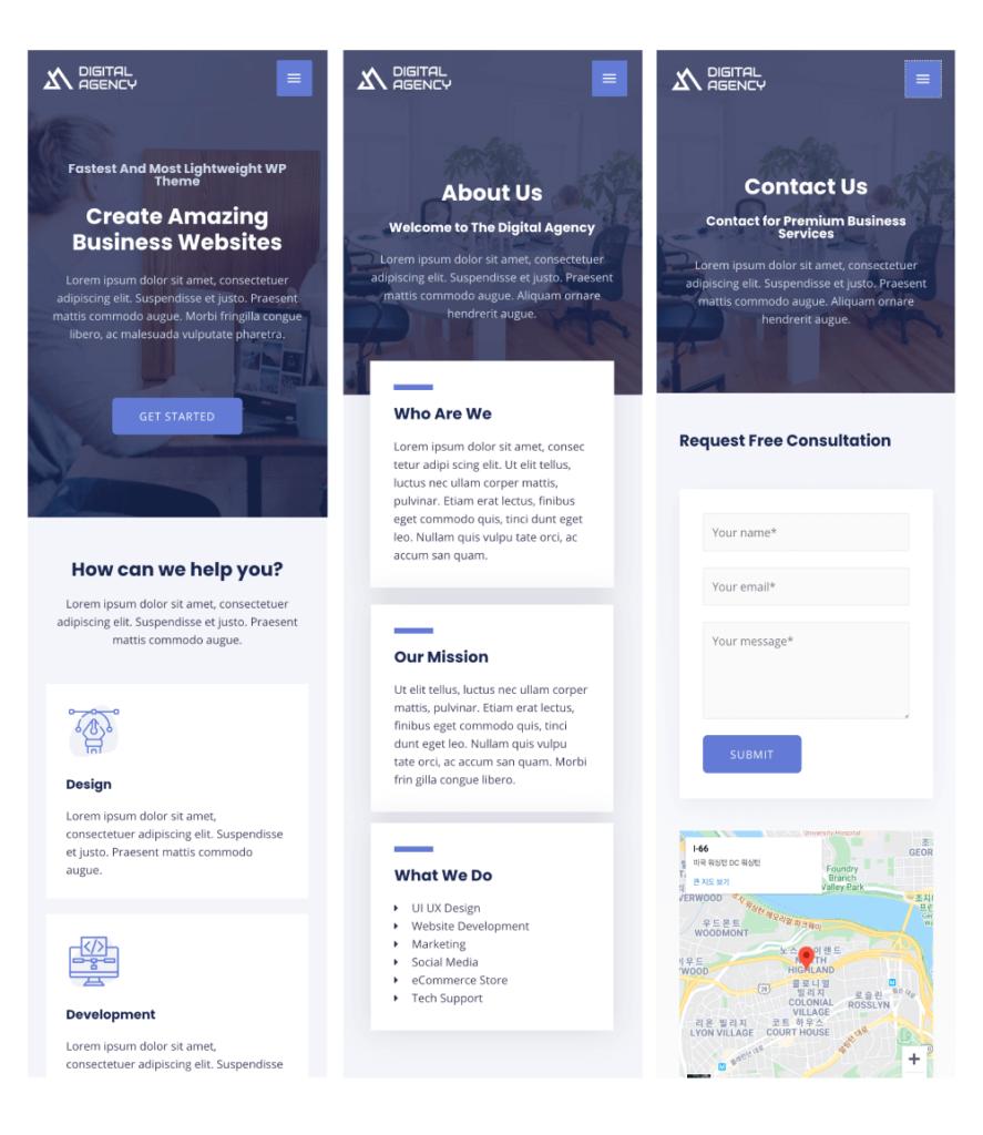 모바일 홈페이지 디자인