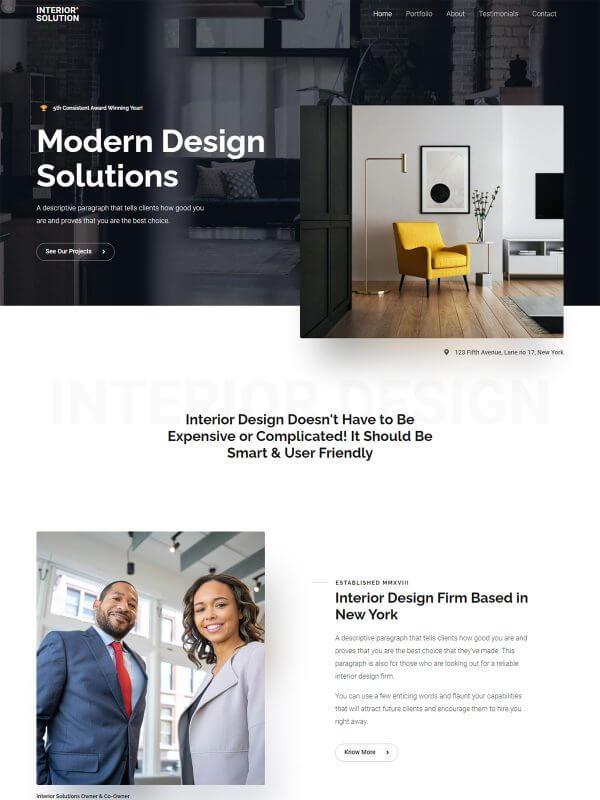 인테리어 홈페이지 디자인