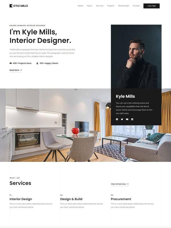 포트폴리오 홈페이지 디자인
