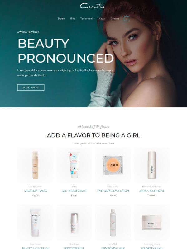 화장품 홈페이지 디자인