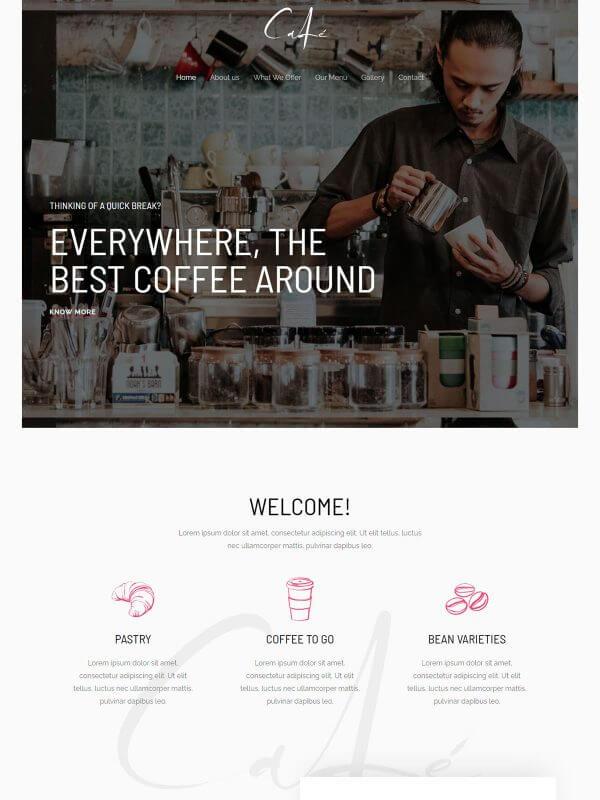 카페 홈페이지 디자인