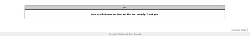 호스팅 verify 완료