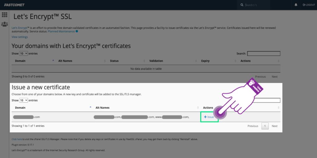 도메인 SSL 인증서 설치